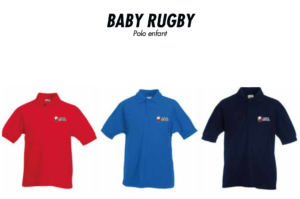 Polos manches courtes BABY RUGBY