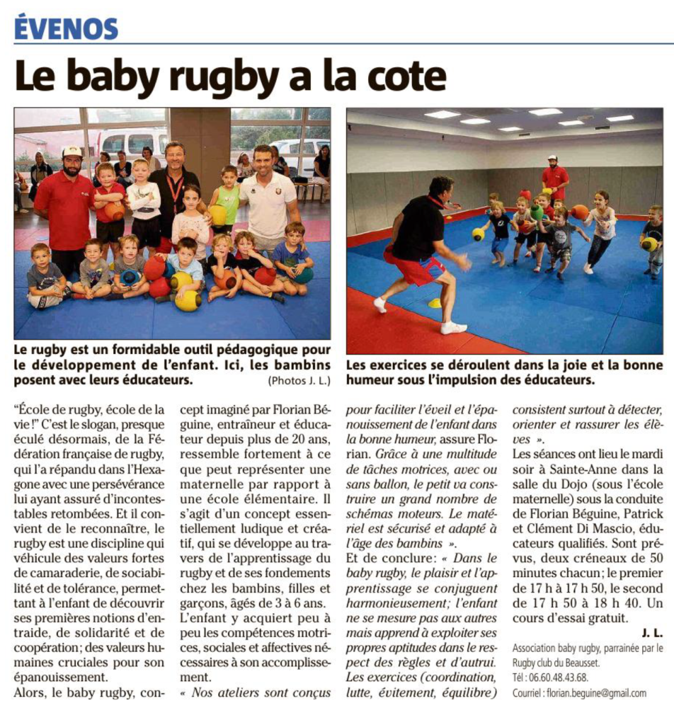 Baby Rugby Evenos